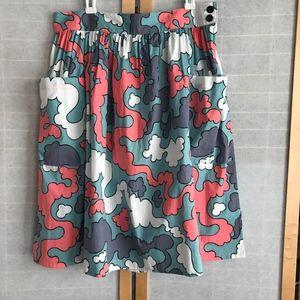 Sz XL Nooworks full skirt big pockets Puff print
